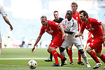 Real Madrid´s Seedorf and Liverpool´s Owen during 2015 Corazon Classic Match between Real Madrid Leyendas and Liverpool Legends at Santiago Bernabeu stadium in Madrid, Spain. June 14, 2015. (ALTERPHOTOS/Victor Blanco)