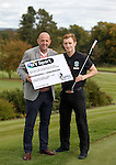 Gary McAllister with Hibernian's Liam Craig at Glenbervie Golf Club as they look ahead to next week's Rangers v Hibs clash at Ibrox