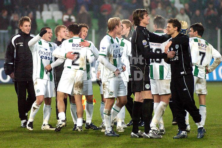 fc groningen -psv eredivisie seizoen 2007-2008 26-12- 2007 feest na afloop..fotograaf Jan Kanning *** Local Caption ***