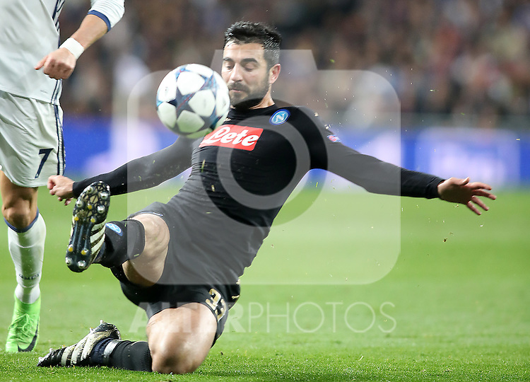 SSC Napoli's Raul Albiol during Champions League 2016/2017 Round of 16 1st leg match. February 15,2017. (ALTERPHOTOS/Acero)