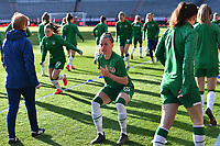 Claire O Riordan (15) of the Irish Republic pictured ahead of a friendly female soccer game between the national teams of Belgium , called the Red Flames and The Republic of Ireland , on sunday 11 th of April 2021  in Brussels , Belgium . PHOTO Dirk Vuylsteke | Sportpix.be | SPP