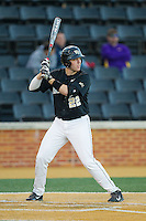 Will Craig (22) of the Wake Forest Demon Deacons at bat against the Missouri Tigers at Wake Forest Baseball Park on February 22, 2014 in Winston-Salem, North Carolina.  The Demon Deacons defeated the Tigers 1-0.  (Brian Westerholt/Four Seam Images)