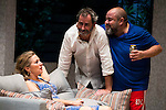 """Pilar Castro, Jorge Bosch and Jorge Calvo during theater play of """"Invencible"""" at Teatros del Canal in Madrid. October 27, Spain. 2016. (ALTERPHOTOS/BorjaB.Hojas)"""