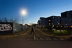 Leicester City 0 Manchester City 0, 29/12/2015. King Power Stadium, Premier League. The junction of Filbert Street and Lineker road, the site of the former home of Leicester City, Filbert Street, is now waste ground a new road called Lineker Road, and student accommodation. Photo by Paul Thompson.