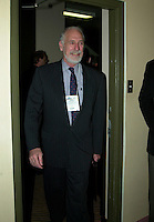 Montreal, March 28, 2001<br /> Canada Minister of Environment ; the Honorable David Anderson walk into a room before the opening plenary session of Americana 2001 in Montreal, CANADA, March 28, 2001<br /> Photo by Pierre Roussel /