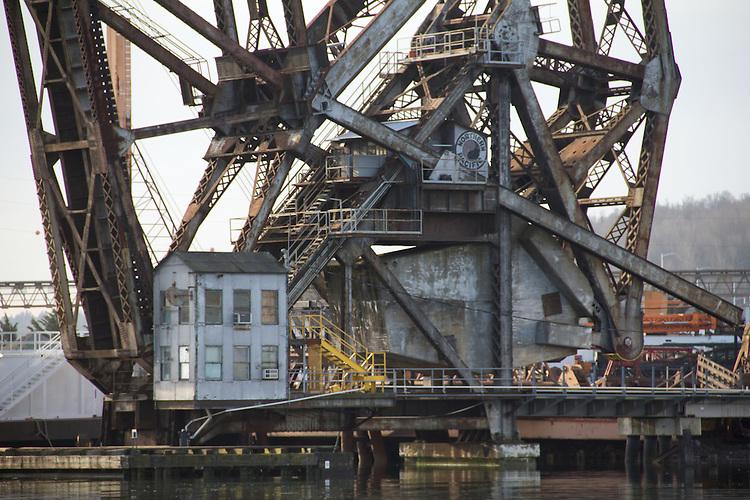 Seattle, Duwamish River, Port of Seattle, industrial area, Super Fund Site, Northern Pacific railroad, bascule bridge,
