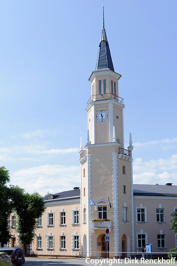 Rathaus von 1949 in Sillamäe, Estland, Europa