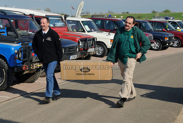 Buying Land Rover genuine parts at the Gaydon Heritage Land Rover Show 2006. Europe, England, UK. --- No releases available. Automotive trademarks are the property of the trademark holder, authorization may be needed for some uses.