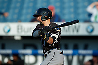 Charlotte Knights Paulo Orlando (16) at bat during an International League game against the Syracuse Mets on June 11, 2019 at NBT Bank Stadium in Syracuse, New York.  Syracuse defeated Charlotte 15-8.  (Mike Janes/Four Seam Images)