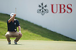 Paul Maddy of England ponders a shot during UBS Hong Kong Open golf tournament at the Fanling golf course on 24 October 2015 in Hong Kong, China. Photo by Xaume Olleros / Power Sport Images