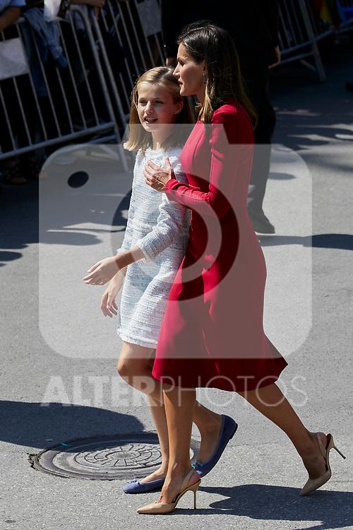 Princess Leonor of Spain and Queen Letizia of Spain visit Covadonga, Spain. September 08, 2018. (ALTERPHOTOS/A. Perez Meca)