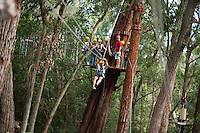 Family going Ziplining on the Big island with Kohala zipline