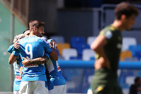 Dries Mertens of Napoli celebrates with team mates after scoring a goal<br /> Napoli 29-9-2019 Stadio San Paolo <br /> Football Serie A 2019/2020 <br /> SSC Napoli - Brescia FC<br /> Photo Cesare Purini / Insidefoto