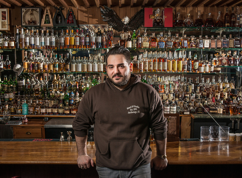 UAA Alum Ylli Ferati is the bartender at his family's restaraunt, Fiori D'Italia, in Spenard. Ferati has helped build the bar's whiskey collection into the biggest in the state and Thrillist recently named Fiori D'Italia the best whiskey bar in Alaska.
