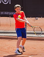 08-08-13, Netherlands, Rotterdam,  TV Victoria, Tennis, NJK 2013, National Junior Tennis Championships 2013,  Jens Hoogendam<br /> <br /> <br /> Photo: Henk Koster