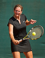 Netherlands, Amstelveen, August 22, 2015, Tennis,  National Veteran Championships, NVK, TV de Kegel,  Lady's 55+, Saskia Riechers-Dijkgraaf<br /> Photo: Tennisimages/Henk Koster