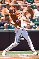 Texas Lonhorn  OF Cohl Walla connects against Oklahoma State on Sunday April 25th, 2010 at UFCU Dish-Falk Field in Austin, Texas.  (Photo by Andrew Woolley / Four Seam Images)