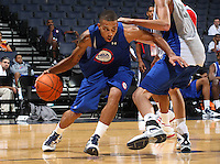 Cedric McAfee at the NBPA Top100 camp at the John Paul Jones Arena Charlottesville, VA. Visit www.nbpatop100.blogspot.com for more photos. (Photo © Andrew Shurtleff)