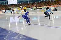 SPEEDSKATING: HEERENVEEN: 11-01-2020, IJsstadion Thialf, European Championship distances, 500m Ladies, Hege Bøkko (NOR), Stien Vanhoutte (BEL), ©foto Martin de Jong
