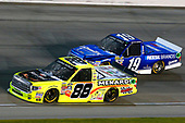 NASCAR Camping World Truck Series<br /> TheHouse.com 225<br /> Chicagoland Speedway, Joliet, IL USA<br /> Friday 15 September 2017<br /> Matt Crafton, Black Label Bacon/Menards Toyota Tundra and Austin Cindric, Draw-Tite / Reese Brands Ford F150<br /> World Copyright: Russell LaBounty<br /> LAT Images