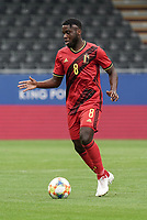 Belgium's Orel Mangala (8) with the ball during a soccer game between the national teams Under21 Youth teams of Belgium and Germany on the 5th matday in group 9 for the qualification for the Under 21 EURO 2021 , on tuesday 8 th of September 2020  in Leuven , Belgium . PHOTO SPORTPIX.BE   SPP   SEVIL OKTEM