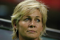 Germany head coach Silvia Neid. Germany (GER) defeated Brazil 2-0 in the finals of the Women's World Cup China 2007 at Shanghai Hongkou Football Stadium, Shanghai, China, on September 30, 2007.