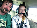 """15/08/18<br /> <br /> ***Video:   https://youtu.be/XDNa_lycFgw ****<br /> <br /> Will Flanagan and Amy Boulton at the controls before hitting the balloon.<br /> <br /> A fourteen-year-old girl on her first ever flying lesson had the fright of her life when the plane hit a gas-filled balloon yesterday. <br /> Amy Boulton screamed as the Cessna 152 collided with a bright pink balloon shaped as the number 2 as it flew at 1000 ft above a Nottinghamshire airfield at 100mph.<br /> <br /> Instructor Will Flanagan said: """"This was Amy's first flight. She had been at the controls but I was flying in to land at Gamston when I suddenly saw it - I thought it was a bird at first. It could've been a big problem if it had wrapped around the propeller. But thankfully it didn't cause any damage and we landed safely. It certainly gave Amy a shock.""""<br />  <br /> All Rights Reserved: F Stop Press Ltd. +44(0)1335 344240  www.fstoppress.com www.rkpphotography.co.uk"""
