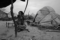 Mornei IDP camp, West Darfur, August 8, 2004.This huge camp shelters more than 75 000 IDP's in very basic conditions.