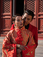 Brautpaar im Kulturpalast der Werktätigen, Peking, China, Asien<br /> Bridal Couple in Cultural Palace of the working peopleim, Beijing, China, Asia