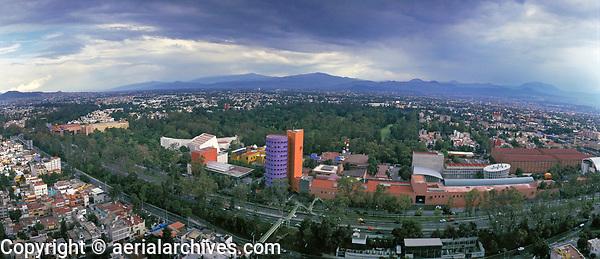 aerial photograph of Mexico City, Mexico.