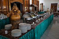 Yogyakarta, Java, Indonesia.  Restaurant Offering a Buffet Lunch.