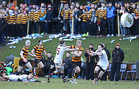 RBAI vs R S ARMAGH | Saturday 21st February 2015<br /> <br /> Lewis McNamara on the attack during 2015 Ulster Schools Cup Quarter-Final between RBAI and Royal School Armagh at Osborne Park, Belfast, Northern Ireland.<br /> <br /> Picture credit: John Dickson / DICKSONDIGITAL