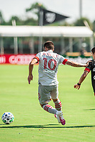 LAKE BUENA VISTA, FL - JULY 13: Alejandro Pozuelo #10 of Toronto FC dribbles the ball during a game between D.C. United and Toronto FC at Wide World of Sports on July 13, 2020 in Lake Buena Vista, Florida.