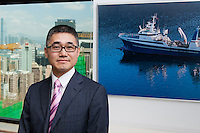Hong Kong, 19 September 2013, Wung Chung House, Wanchai<br /> <br /> Eymon Chan, Director and CFO of the Ocean Trawlers.<br /> <br /> Photo Kees Metselaar