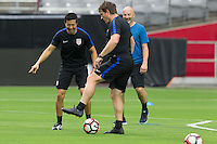 Glendale, AZ - June 23, 2016: The USMNT train in preparation for their Copa America third-place game versus Colombia at the University of Phoenix Stadium.