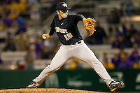 at Alex Box Stadium on February 18, 2011 in Baton Rouge, Louisiana.  The Tigers defeated the Demon Deacons 15-4.  Photo by Brian Westerholt / Four Seam Images