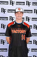 Adam Chadwick (14) of Vacaville High School in Vacaville, California during the Baseball Factory All-America Pre-Season Tournament, powered by Under Armour, on January 12, 2018 at Sloan Park Complex in Mesa, Arizona.  (Mike Janes/Four Seam Images)