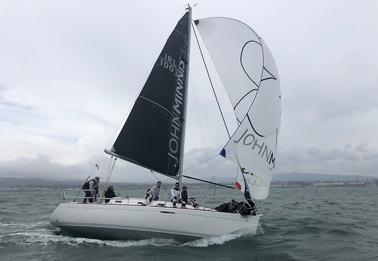 Speed wobble on Dublin Bay!  'Final Call' flying her A GRADE Superkote Spinnaker and 3Di RAW Mainsail