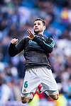 Nacho Fernandez of Real Madrid warms up prior to the La Liga 2017-18 match between Real Madrid and Deportivo Alaves  at Santiago Bernabeu Stadium on February 24 2018 in Madrid, Spain. Photo by Diego Souto / Power Sport Images