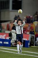 Eddie Lewis throws the ball in at Fritz-Walter Stadium, Kaiserslautern, Germany, Wednesday, March 1, 2006. USA 1-0.