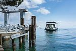 Italien, Lombardei, Gardasee: mit der Autofaehre von Toscolano-Maderno nach Torri del Benaco | Italy, Lombardy, Lake Garda: car ferry from Toscolano-Maderno to Torri del Benaco