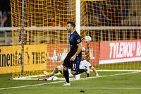SAN JOSE, CA - SEPTEMBER 16: Vako #11 of the San Jose Earthquakes celebrates scoring during a game between Portland Timbers and San Jose Earthquakes at Earthquakes Stadium on September 16, 2020 in San Jose, California.