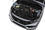 Car stock 2018 Honda Civic Si 2 Door Coupe engine high angle detail view