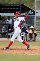 Jose Bermudez participates in the International Prospect League Showcase at the New York Yankees academy in Boca Chica, Dominican Republic on January 24, 2014 (Bill Mitchell)