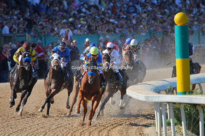 10 April 2010: Line Of David with jockey Jon Court wins the 74th running of the Arkansas Derby at Oaklawn in Hot Springs, Arkansas