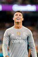 Melbourne, 24 July 2015 - Cristiano Ronaldo of Real Madrid reacts after missing a kick for goal in game three of the International Champions Cup match between Manchester City and Real Madrid at the Melbourne Cricket Ground, Australia. Real Madrid def City 4-1. (Photo Sydney Low / AsteriskImages.com)