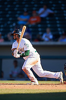 Mesa Solar Sox Franklin Barreto (4), of the Oakland Athletics organization, during a game against the Scottsdale Scorpions on October 18, 2016 at Sloan Park in Mesa, Arizona.  Mesa defeated Scottsdale 6-3.  (Mike Janes/Four Seam Images)