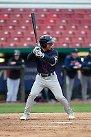 Cedar Rapids Kernels center fielder Gabriel Maciel (19) during a Midwest League game against the Kane County Cougars at Northwestern Medicine Field on April 28, 2019 in Geneva, Illinois. Cedar Rapids defeated Kane County 3-2 in game two of a doubleheader. (Zachary Lucy/Four Seam Images)