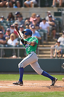 Hartford Yard Goats Willie MacIver (22) bats during a game against the Somerset Patriots on September 12, 2021 at TD Bank Ballpark in Bridgewater, New Jersey.  (Mike Janes/Four Seam Images)