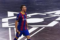 9th October 2020; Palau Blaugrana, Barcelona, Catalonia, Spain; UEFA Futsal Champions League Finals; FC Barcelona versus MFK KPRF;  Lozano celebrates after scoring his goal